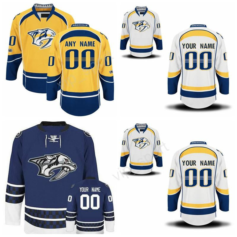 ... Stanley Cup Patch Nashville Predators 18 James Neal Blue jersey 2017  Ice Hockey 4 Ryan Ellis Jersey Custom Nashville Predators 18 James Neal  Jerseys 33 ... f8d18bc3c