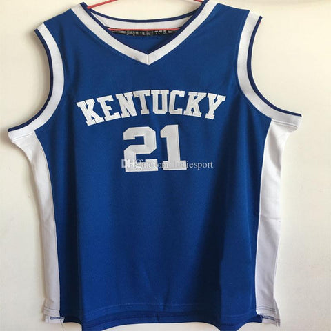 #21 Tayshaun Prince Kentucky Wildcats Basketball Jersey Blue,White,Stitched Sports Jerseys Shirt Custom any Number ,Name and Size XXS-6XL