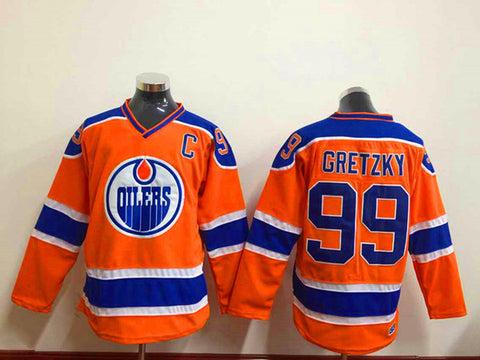 ... Jersey Edmonton Oilers 97 Connor McDavid 99 Wayne Gretzky Orange Blue  White With C Patch ... e708091e0