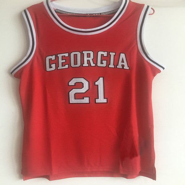 dea03c41a8ff ... 21 Dominique Wilkins Georgia Bulldogs Basketball Jerseys Red White Mens  Stitched Jersey Shirt Custom any ...