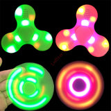 100 pieces LED Bluetooth Music Speaker Fidget Spinner Finger Hand Spinner EDC With Switch For Decompression Anxiety Toys