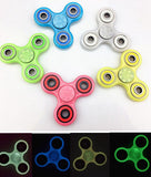 Luminous Hand Spinner Toy EDC Fidget Spinner toy finger Hand tri spinner Glow In The Dark Fidget Decompression Toys 5 color KKA1526