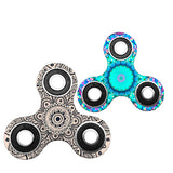 Stock EDC Fidget Spinner Finger Spinner Toy Hand Tri Spinner HandSpinner EDC Toy For Decompression Camouflage Color Anxiety Toys DHL Free