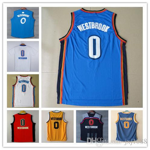Top quality Oklahoma City Russell Westbrook Jersey, UCLA Bruins Westbrook College Throwback Christmas all star Thunder basketball Jersey