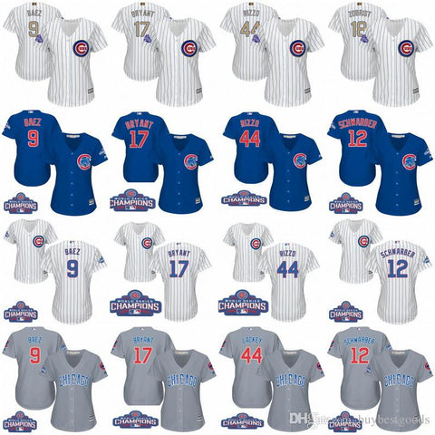 48099f8c776 ... womens chicago cubs 17 kris bryant 44 anthony rizzo 9 javier baez kyle  schwarber 2017 gold