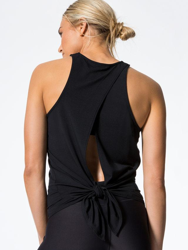 Alexa Open Back Knot Top