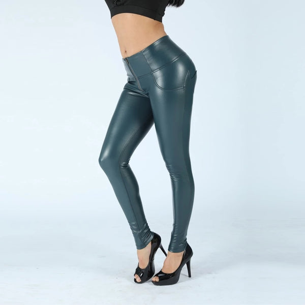 Booty push-up Blue high waist pants