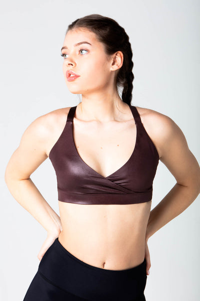 Karla liquid Dark Brown Bra