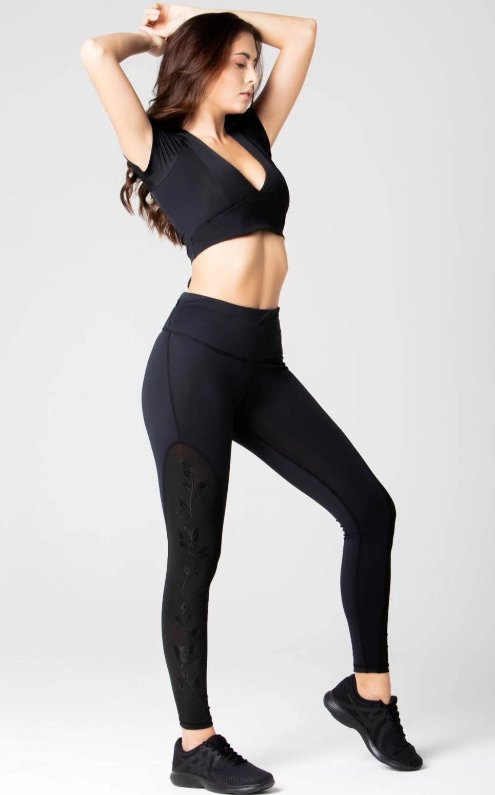 Marie Embroidery High Waist Legging