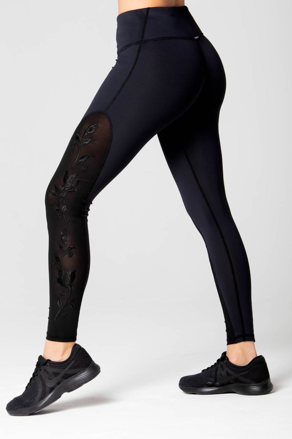 Marie floral embroidery high waist Legging