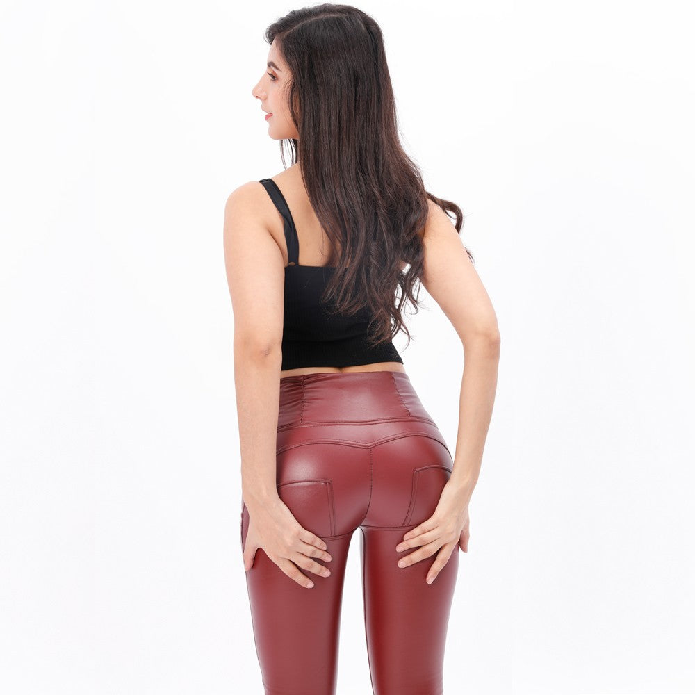 Booty push-up Red high waist pants