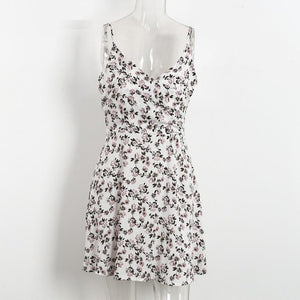 Floral high waist dress -  - MySwaggs