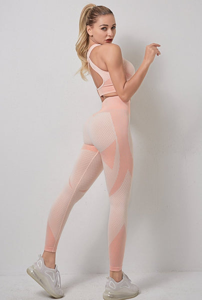 Chloe Peach Seamless Set