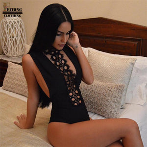 Lace Backless bodysuit -  - MySwaggs