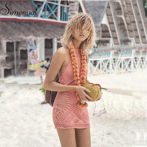 Handmade Crochet Peach dress - dress - MySwaggs