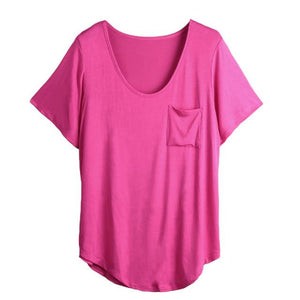 Chest Pocket Casual Tunic Tee Shirt - top - MySwaggs