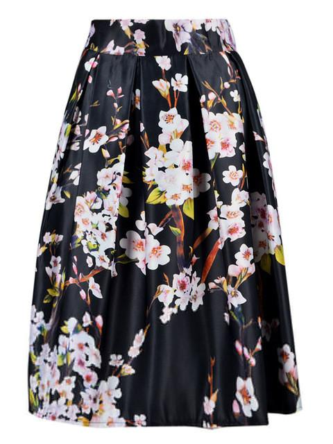 Floral Printed Skirt -  - MySwaggs