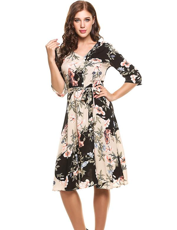 Emma Chic Print  dress -  - MySwaggs