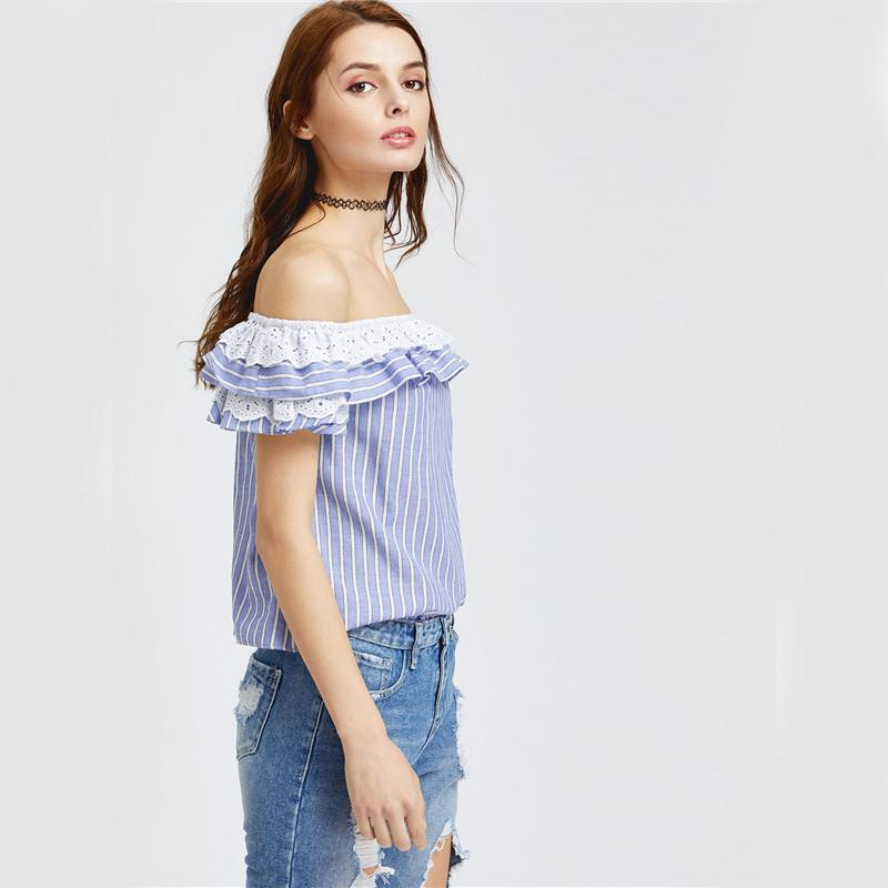Cute Trim blouse -  - MySwaggs