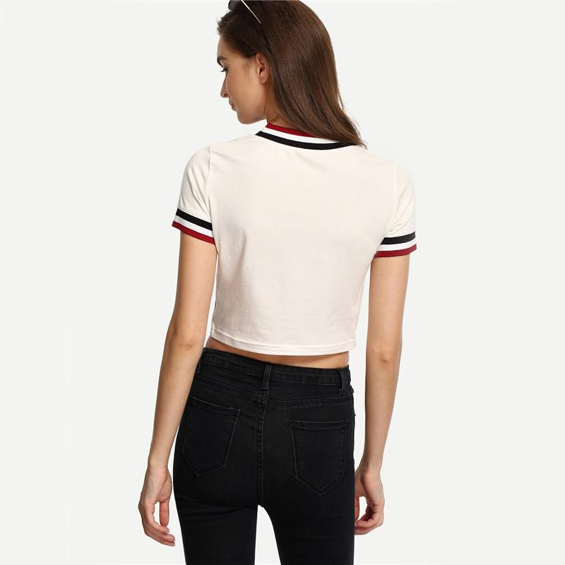 Claire Striped T-shirt -  - MySwaggs