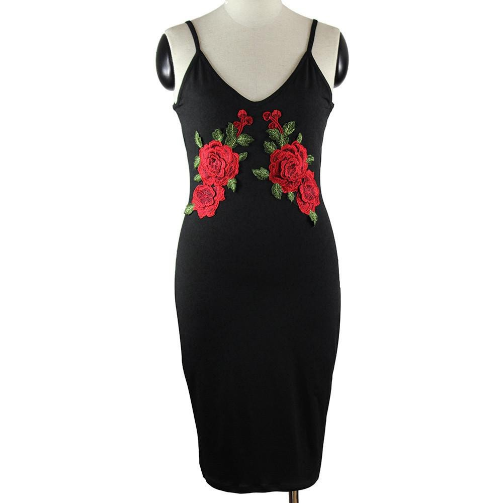 Gulietta Floral Strappy Bodycon dress -  - MySwaggs