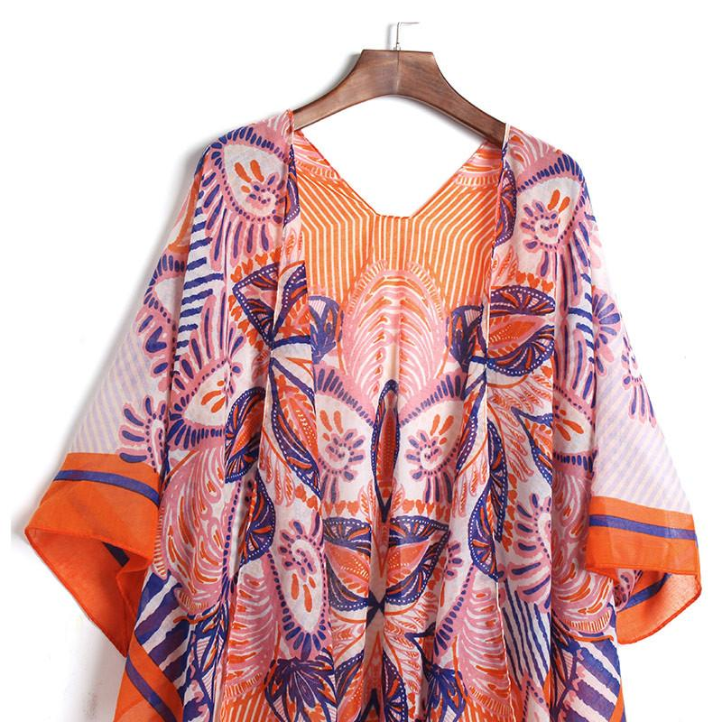 Orange Floral Pareo -  - MySwaggs