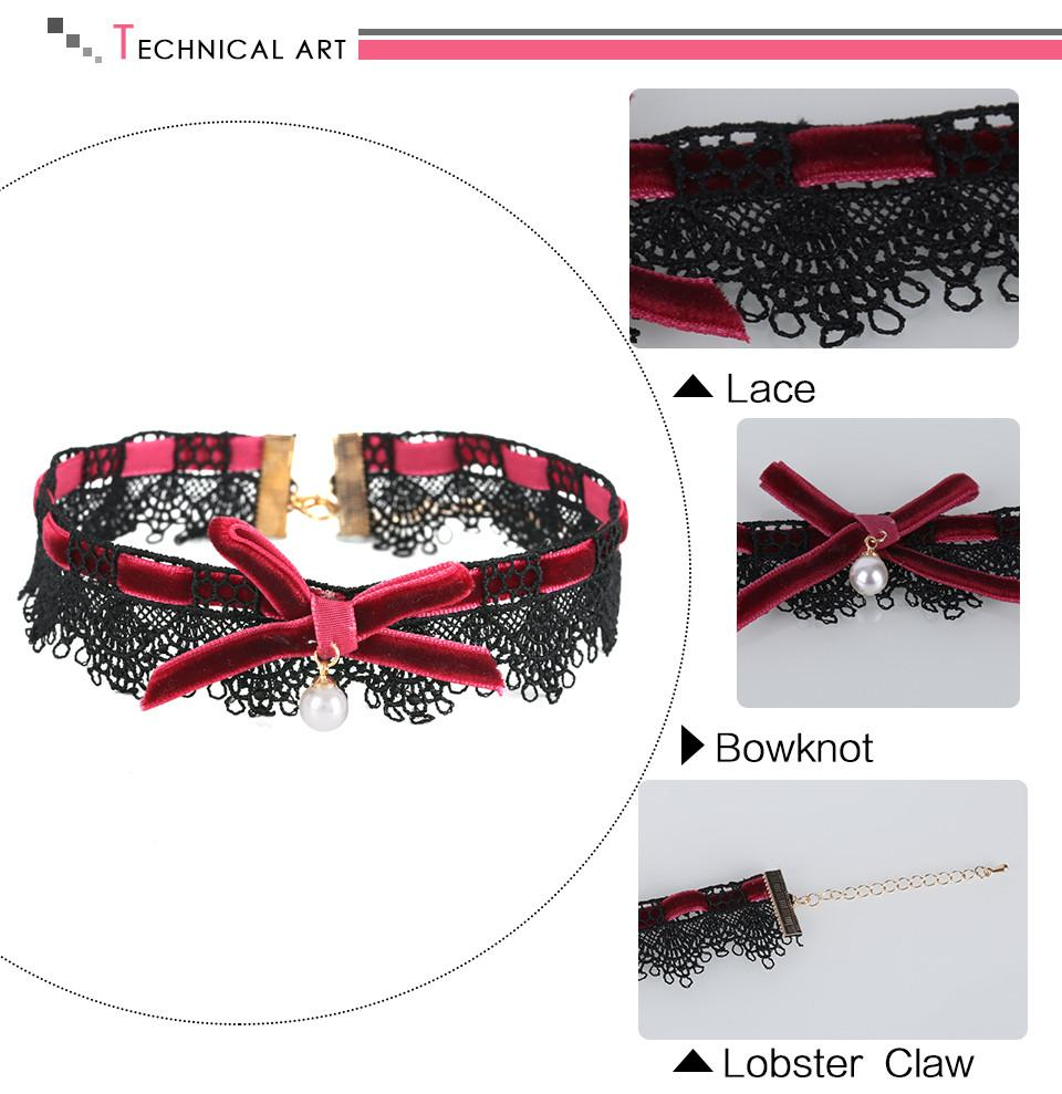Handmade Glamour Lace Choker -  - MySwaggs