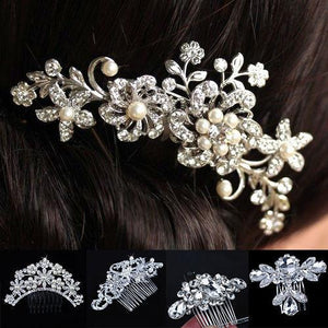 Wedding Bridal Crystal Pearls Hairpin -  - MySwaggs
