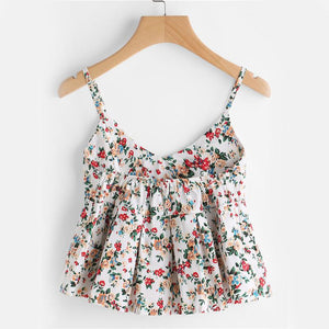 Floral Peplum Cami Top -  - MySwaggs