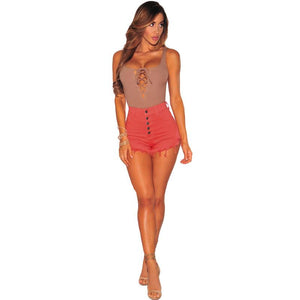 Ripped High Waist Short -  - MySwaggs