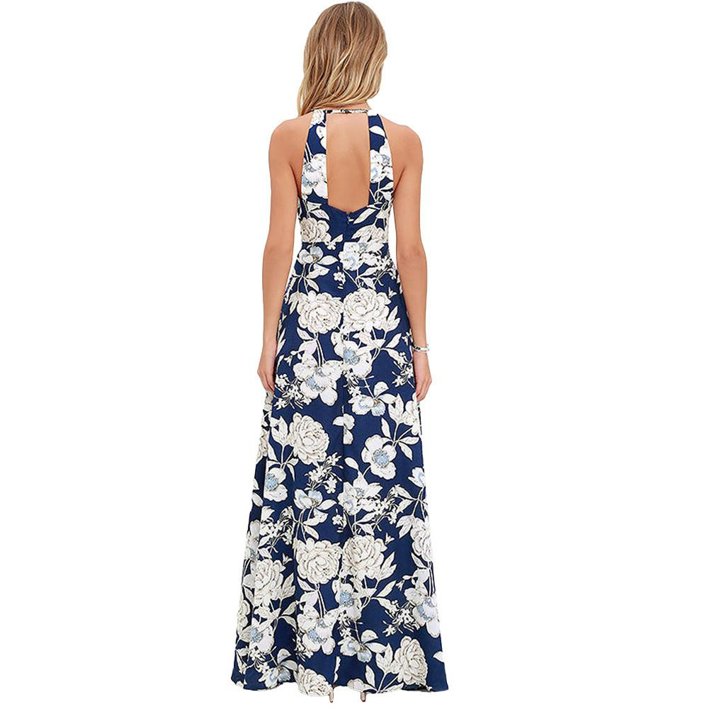 Oklahoma Vintage Floral Maxi dress - dress - MySwaggs