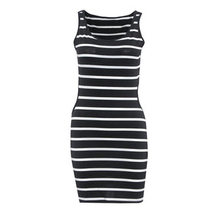 Striped Backless dress -  - MySwaggs
