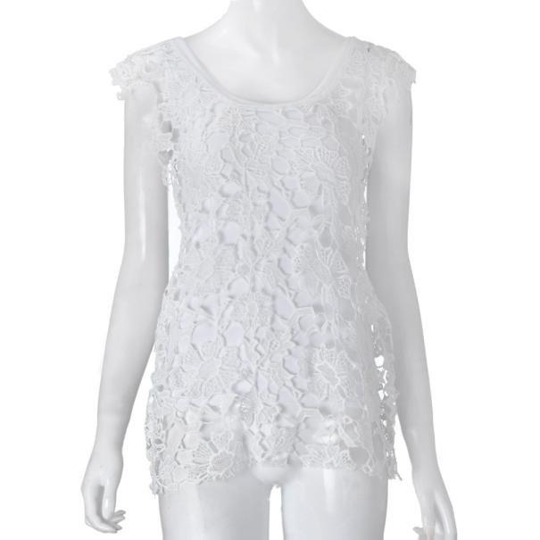 White Lace Crochet dress -  - MySwaggs