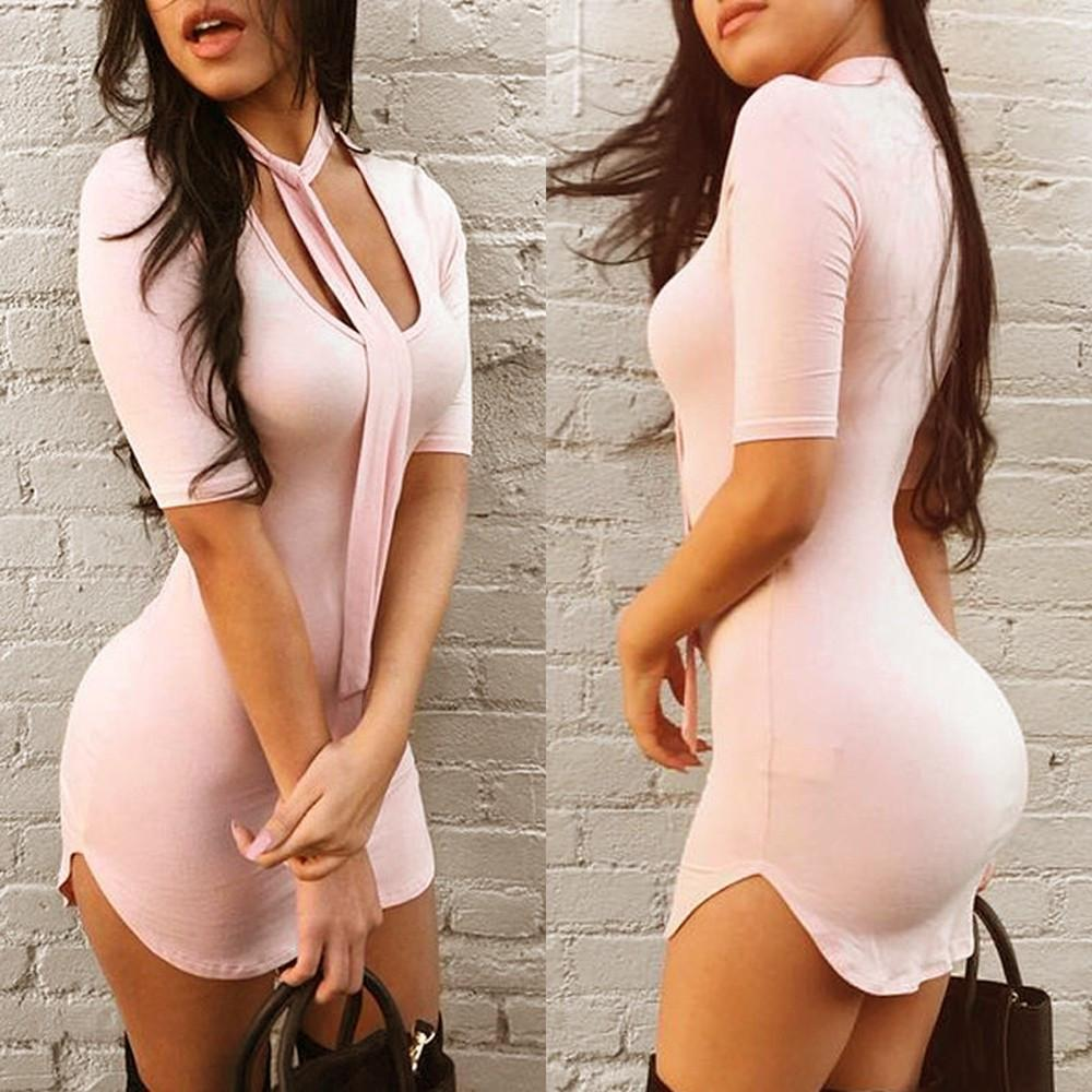 Montana Pink Short Mini dress -  - MySwaggs