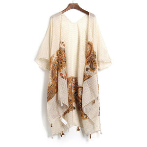 Lenka Elegant Brown Cover Up -  - MySwaggs