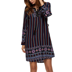 Nathalie Blue Fun&Relax dress -  - MySwaggs