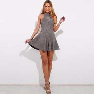 Veronica Bandage Lace up pleated mini Dress