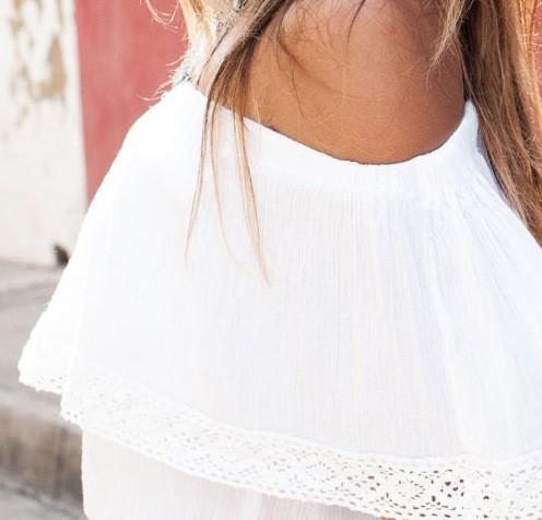 Cute White Crop Top -  - MySwaggs