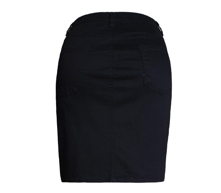 Stretch denim skirt -  - MySwaggs