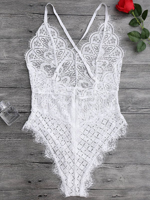 Floral Lace Jumpsuit -  - MySwaggs