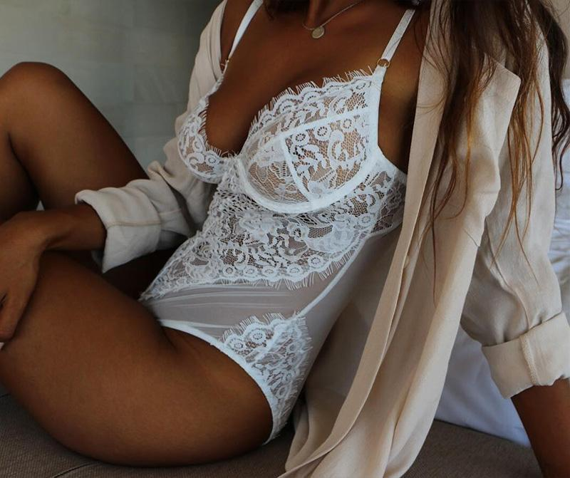 Endless love gauze lace blouse Jumpsuit