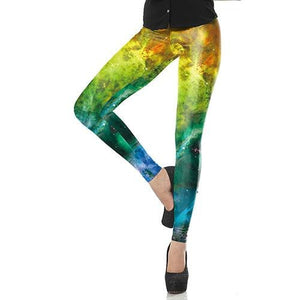Galaxy Yellow Space Leggings