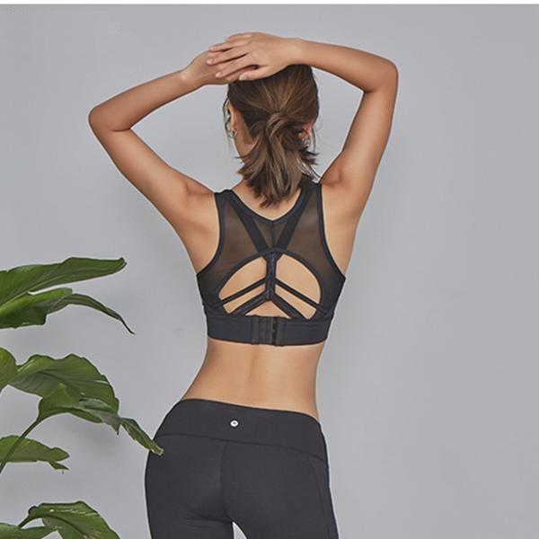 Mesh Rising Salutation Sports Bra