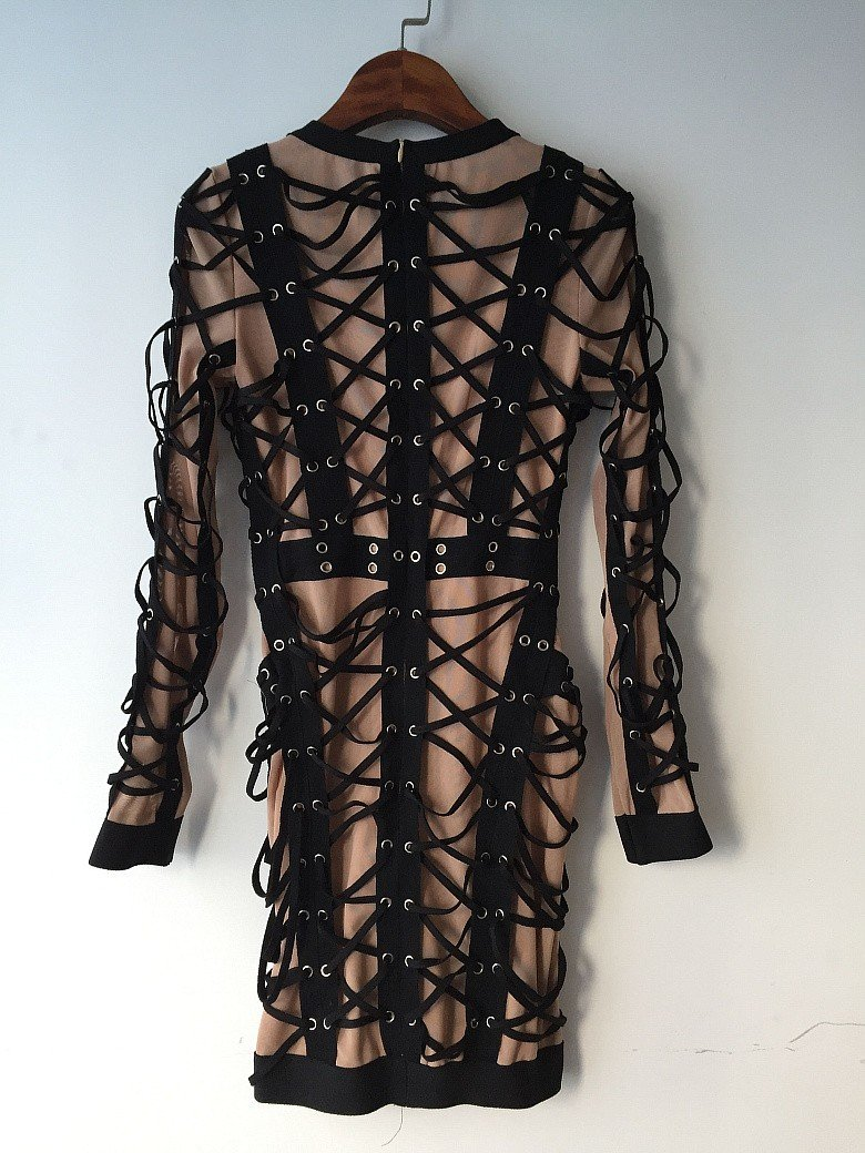 Hollow Out Weaving dress