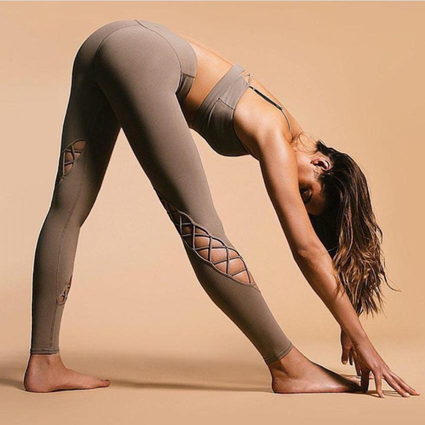 Twisted Cross Strappy Yoga Leggings