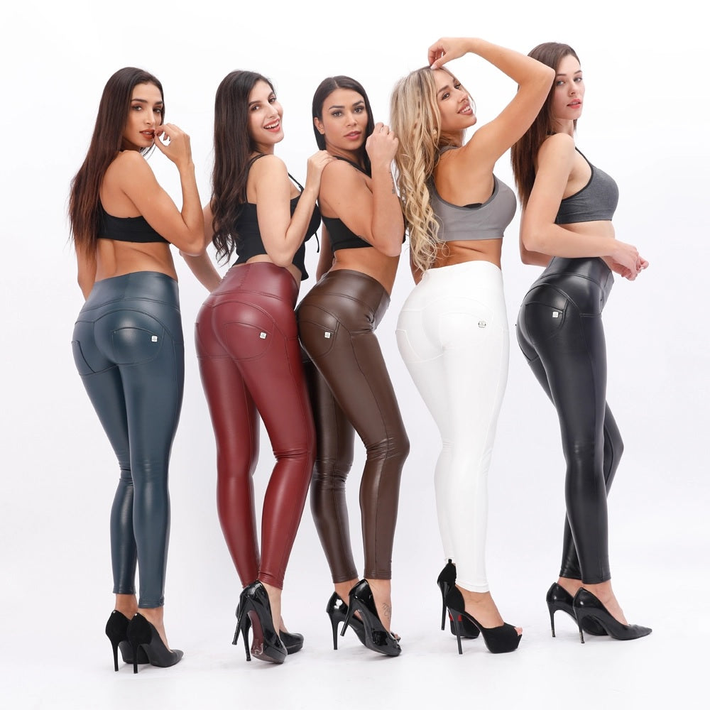 Booty push-up Brown high waist pants