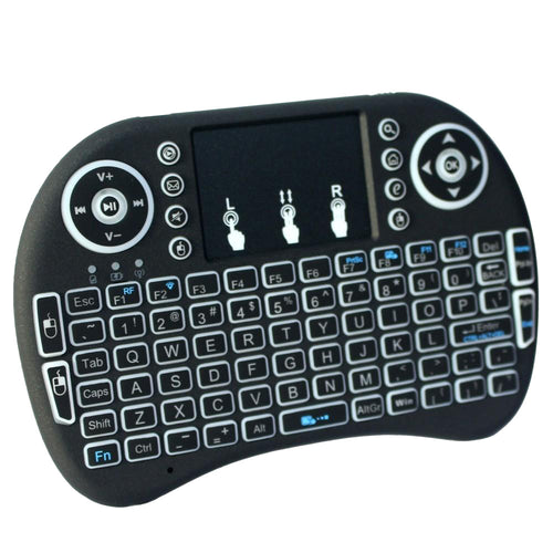 Rii i8+ 2.4G Wireless Backlit Keyboard for Smart TV, TV Box, HTPC, PC with Multi-touch up to 15 Meter