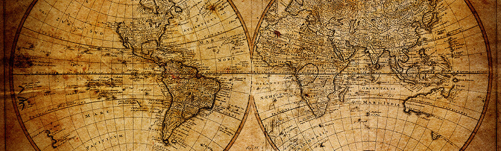 Antique World Maps – Large Wall Push Pin World Map Canvas ...