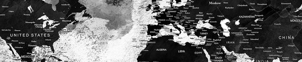 Black & White World Maps