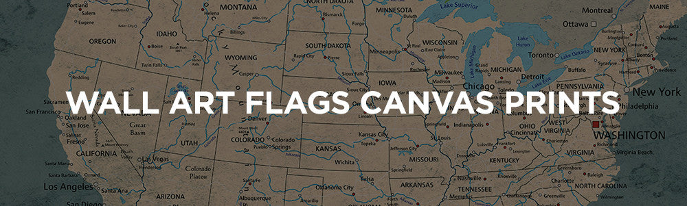 American and state flags large wall push pin world map canvas and american and state flags gumiabroncs Images